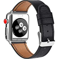 AK Bracelet Compatible pour Bracelet Apple Watch 38mm 40mm,Cuir de Grain Double Tour Remplacement Compatible pour iWatch Série 5,4,3,2,1