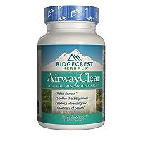 Ridgecrest Herbals AirwayClear, Natural Respiratory Relief, 60 Vegan Capsules