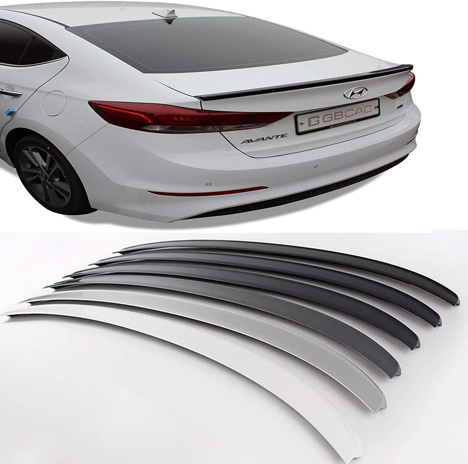 New Rear Trunk Wing Lip Spoiler Painted for Hyundai Azera 2012-2017