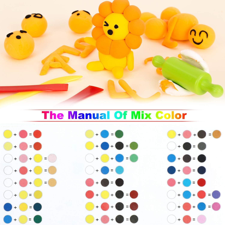 36 Colors Soft Magic Plasticine Craft Toy with Tools ideallife ...