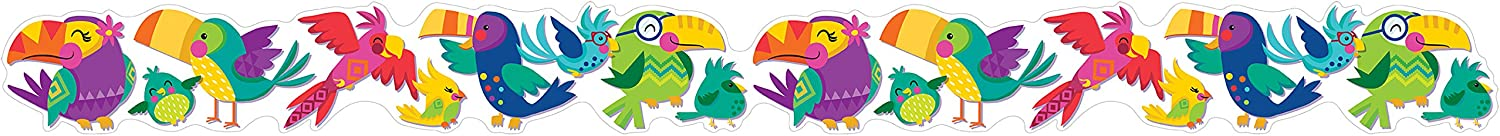 Eureka Colorful 'You Can Toucan' Birds Bulletin Board Trim and Classroom Decoration for Teachers, 12pc, 3.25'' W x 37'' L