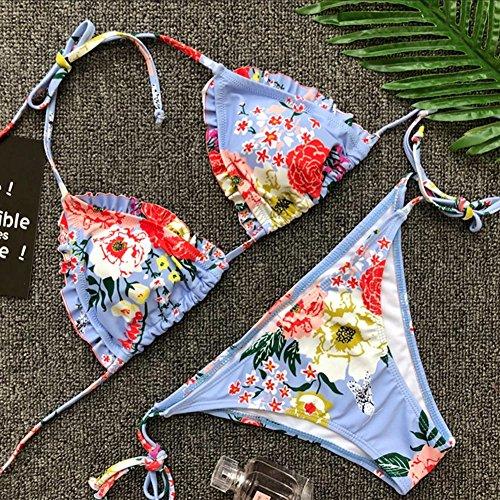 Spiaggia Due Costume Bikini Suit Impostato E Bagnarsi Floral Kootk Bagno Costumi Da Pezzo Donna S Nuoto Swimsuit Slip Top Sexy Tankini q6n88POwvI