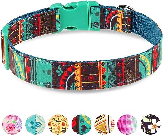 Taglory Collar Perro Ajustable,Estilo Único Collar Adiestramiento ...