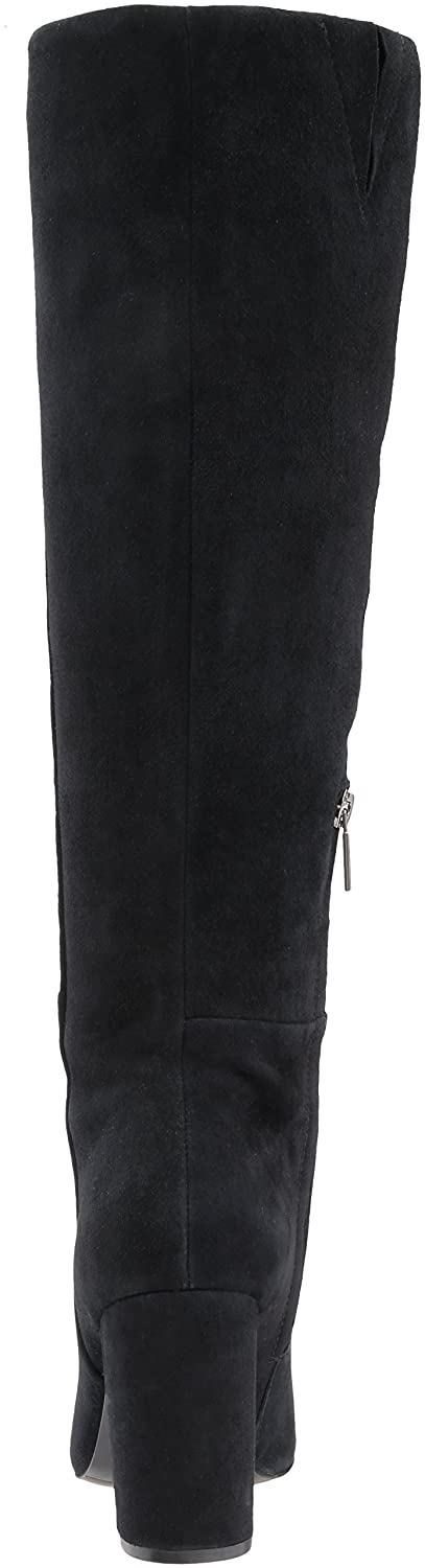 Kenneth Cole New York Women's Clarissa Knee High Tall Stacked Heel Engineer Boot B071Y73ZRX 6 B(M) US|Black