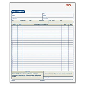 Amazon.Com : Adams Purchase Order Book, 10.69 X 8.38 Inches, White
