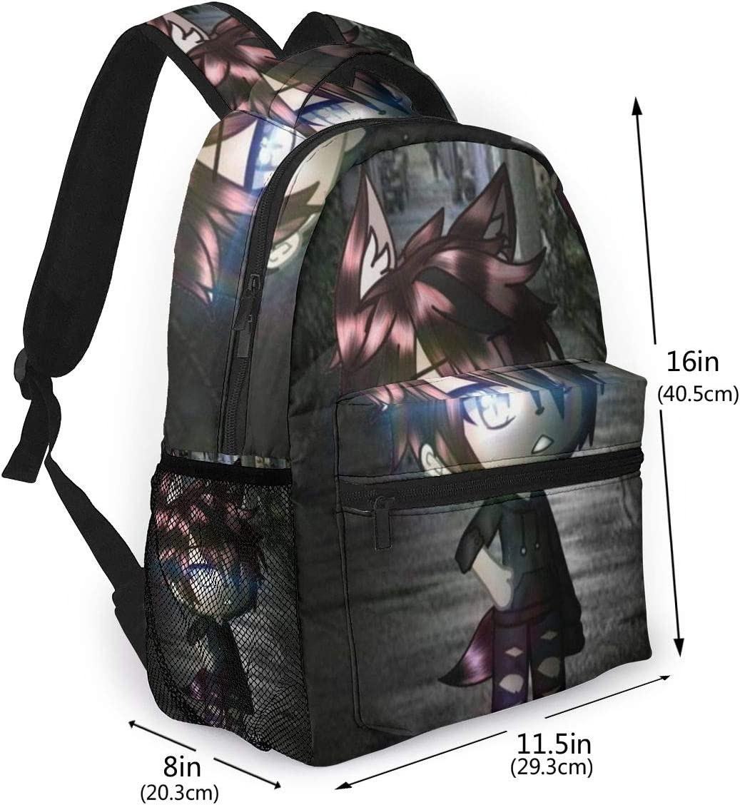 Ga-cha Life Casual Backpack Style Lightweight Canvas Backpack School Bag Travel Daypack