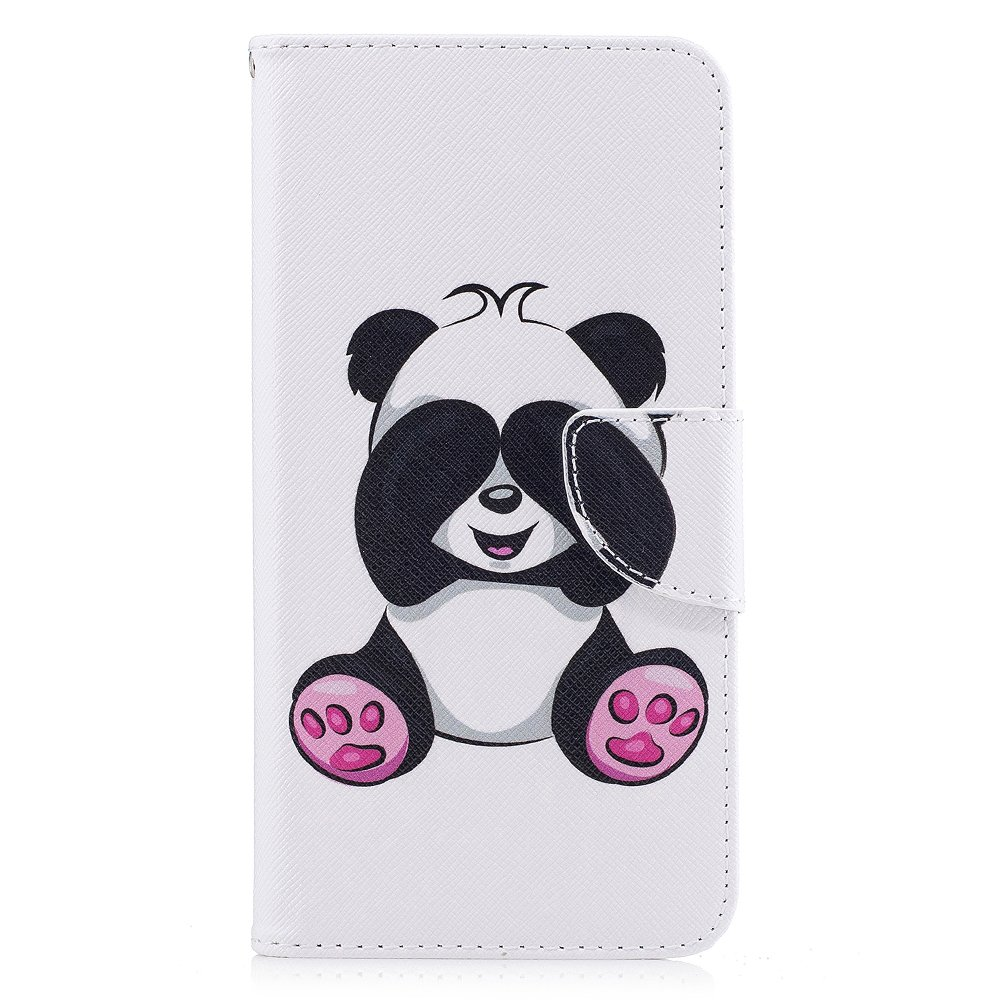 Tr BtDuck Leather Case for Apple iPhone 6 Plus iPhone 6S Plus 5.5 inch PU Stand Painted pattern Phone Protector PU Leather Flip Folio Cover Anti-slip Skin Outdoor Protection Shockproof Anti-scratch Slim-fit Case Wallet Shell with Stander Oyster ID Card