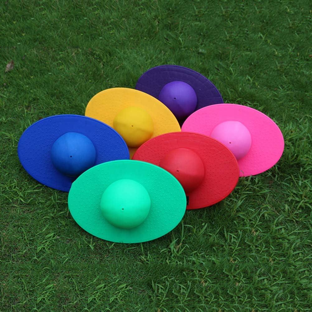 LIOOBO /Épaissir l/équilibre Balle de Rebond Fitness /équipement de Balle de Yoga sautant Balle rebondissante avec Planche pour Enfants Adultes