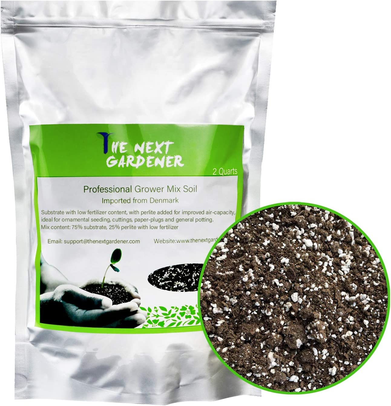 The Best Compost Perlite Blend Potting Mix 25 LB Organic FREE SHIPPING in USA