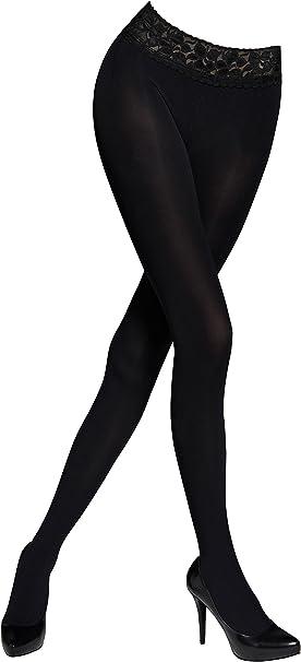 50 Denier Women/'s Opaque Black Tights 3D Microfibre Pantyhose