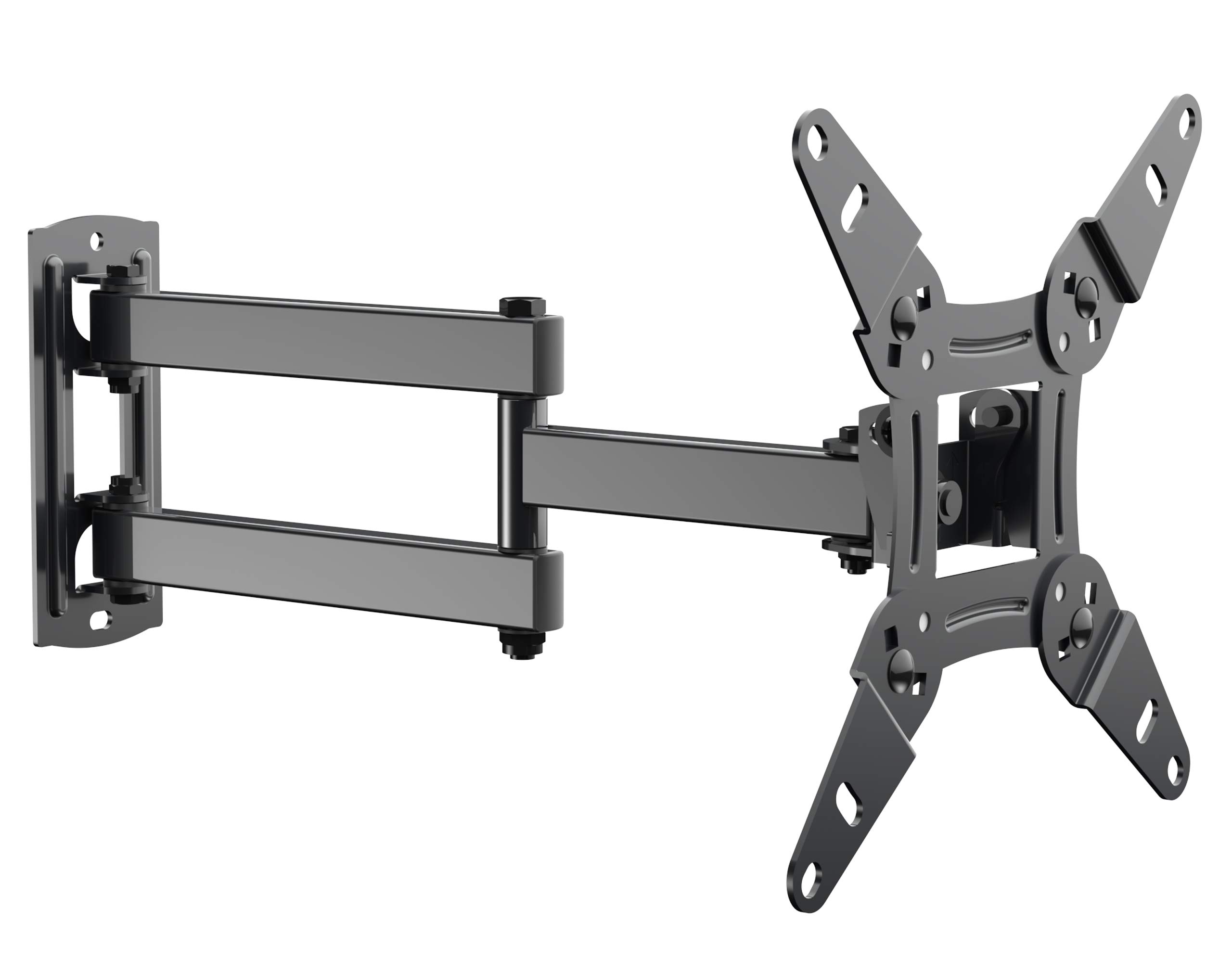Full Motion TV Wall Mount Bracket fits to Most 13-40 inch TVs & Monitors, Wall Mount TV Bracket with Arm Articulating Tilt Swivel & Extends 14.5'' - TV Mount fits LED, LCD, OLED Flat Screen TVs