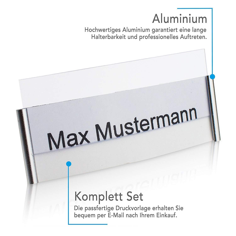 10 St/ück mit 3-Punkt Magnet f/ür Starken Halt An Ihrer Kleidung Goodman Wallstreet Name Badge Alu Namensschilder Magnetisch Aluminium Komplettset auch bei Sakkos