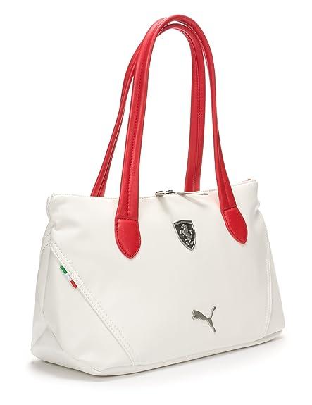 1dacfbea6039 Puma Ferrari LS Handbag (Whisper White and Rosso Corsa)  Amazon.in  Shoes    Handbags