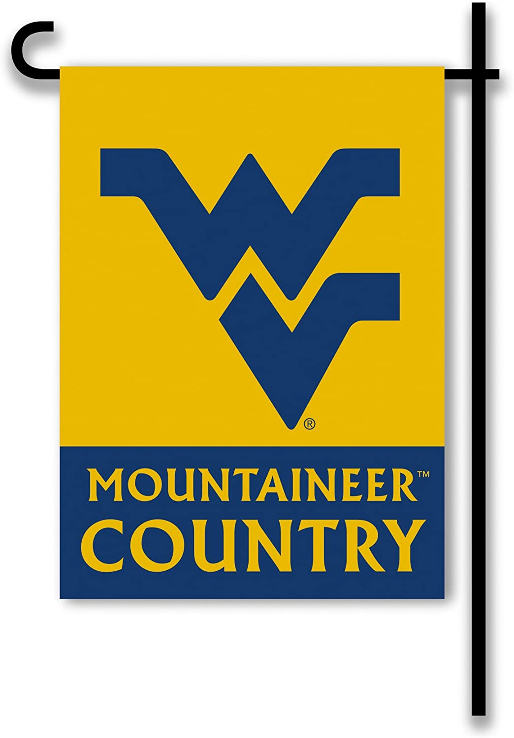 NCAA West Virginia Mountaineers 2-Sided Country Garden Flag, Team Color
