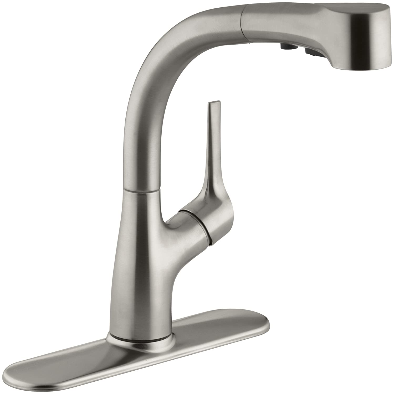 KOHLER K 13963 VS Elate Pullout Kitchen Faucet Vibrant Stainless