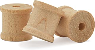 product image for Wooden Spools 3/4 x 5/8-inch 1000 Pieces Unfinished Mini Birch Wood Spools, Splinter-Free, for Crafts and Wood Jewelry by Woodpeckers
