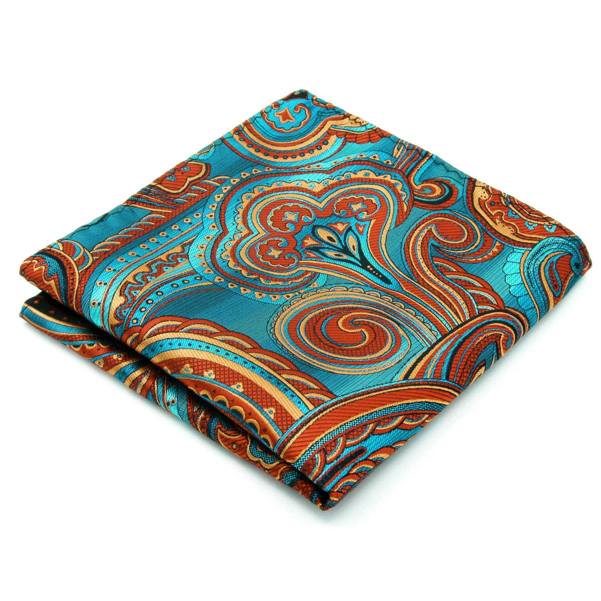 Shlax & Wing Mens Pocket Square Silk Hanky Milticolored Patterned Hanky AH33