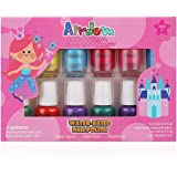 Airdom Non Toxic Kids Nail Polish Set for Toddler Water Based Peel-Off odorless Quick Dry Natural, Gifts for Girls (11…