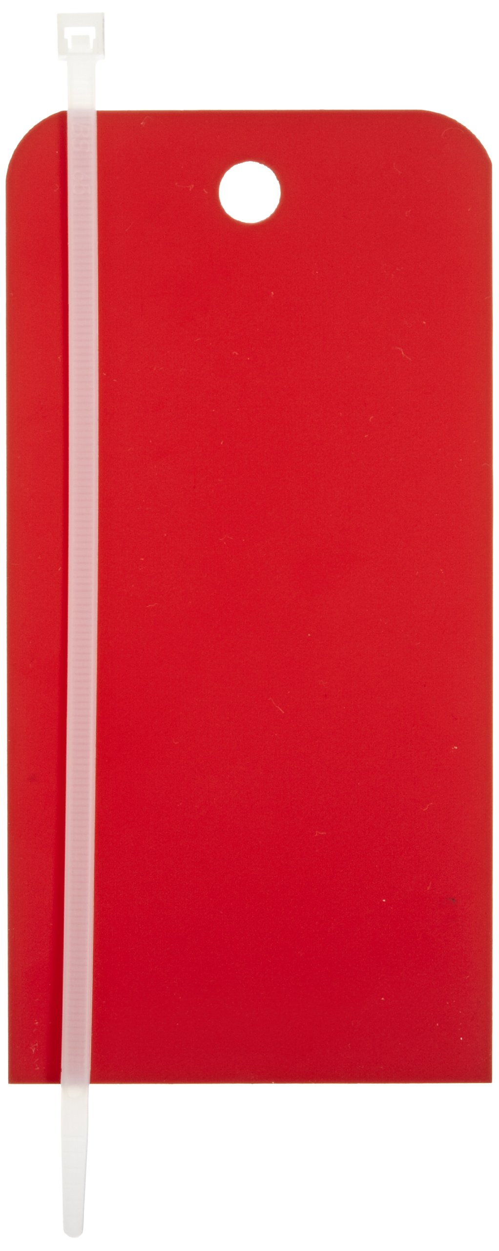 NMC RPT157 Blank Accident Prevention Tag, 3'' Width x 6'' Height, Unrippable Vinyl, Red (Pack of 25) by NMC