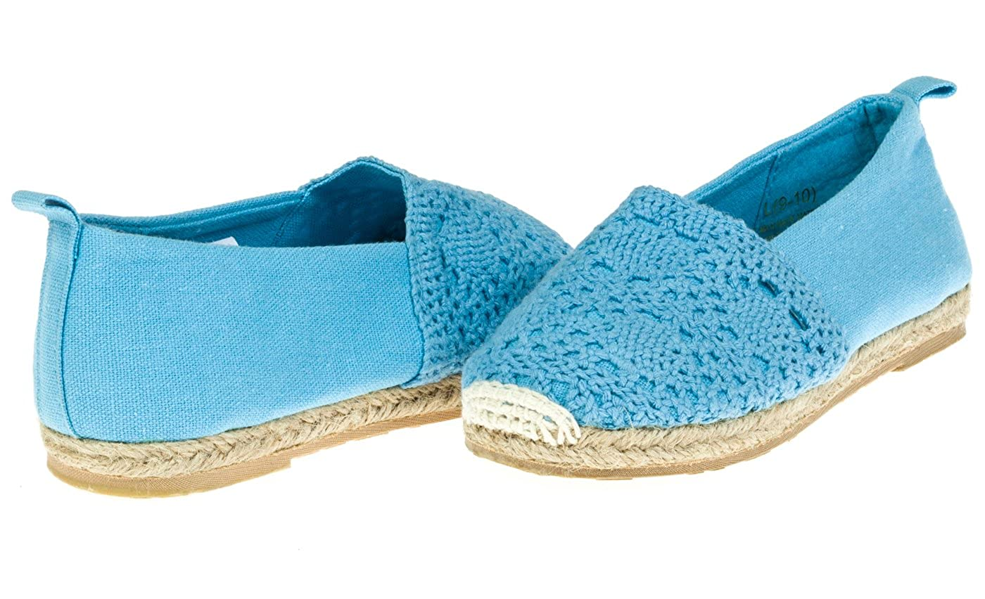 Chatties Toddler Crochet & Canvas Espadrilles (See More Colors/Sizes) 05FL10216