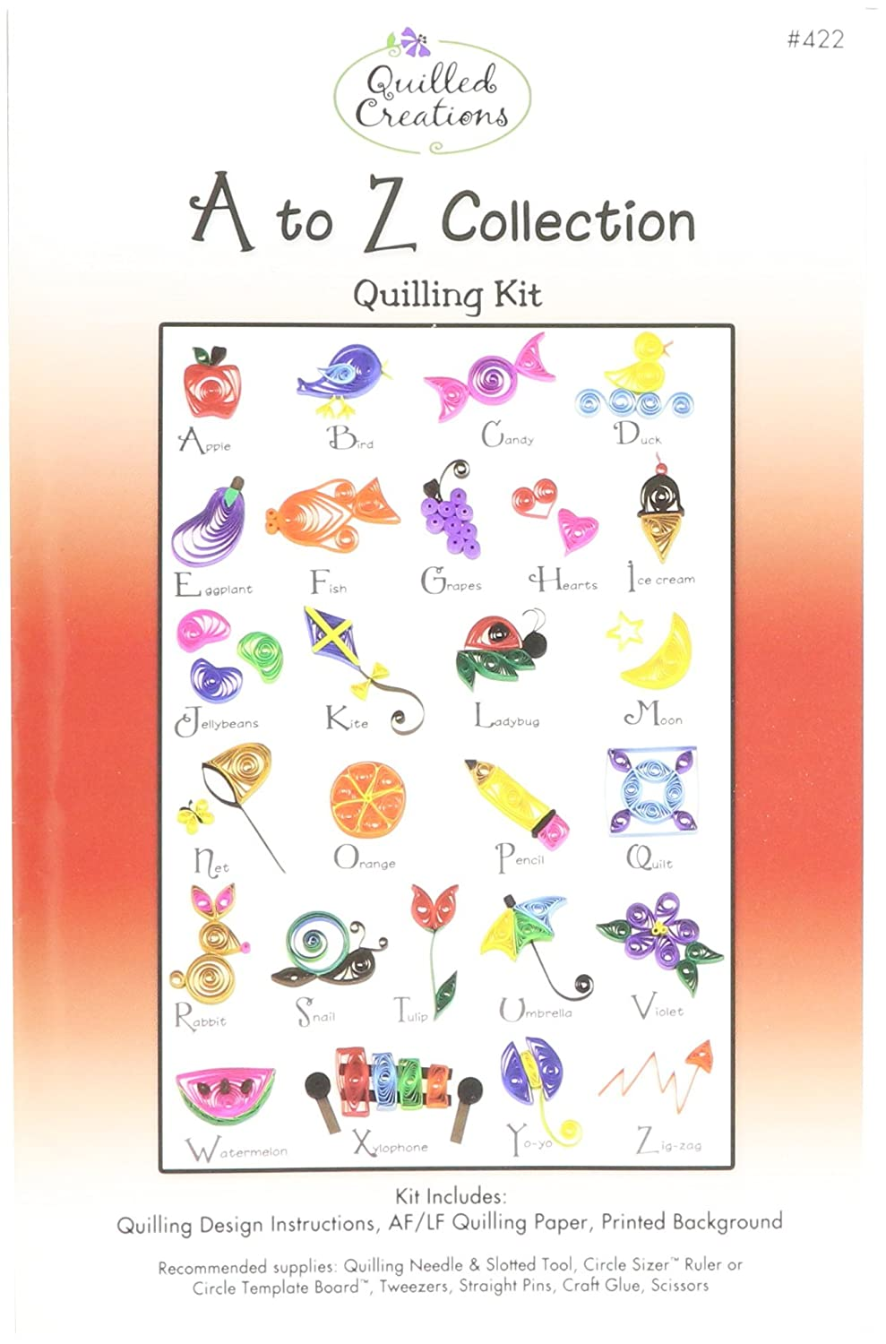 Quilled Creations Q422 A to Z Collection Quilling Kit Notions - In Network