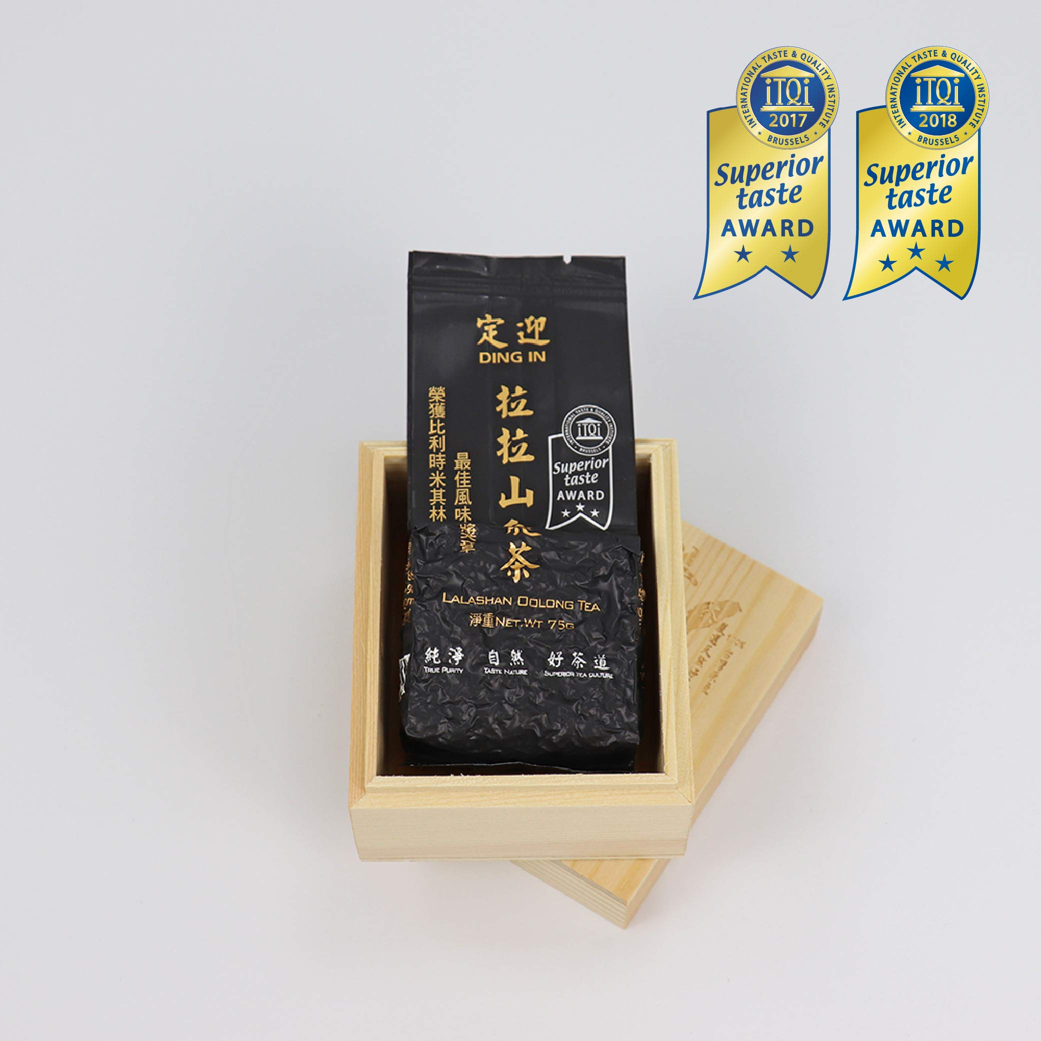 DING IN Lalashan Oolong Tea Pine Box 75g/box by Ding In ltd. (Image #1)