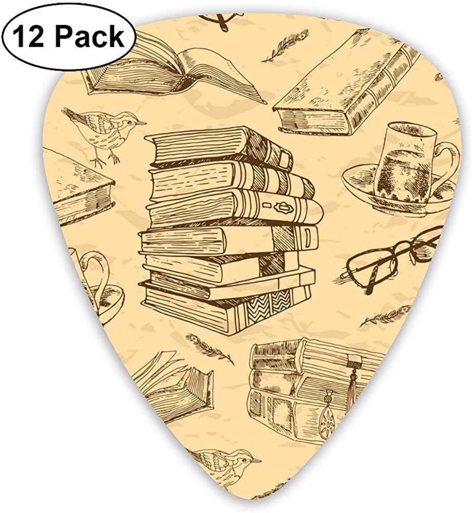 Libros Antiguos Patrones Sin Fisuras Imagen Vectorial Guitar Pick Picks Clásicos 12-Pack