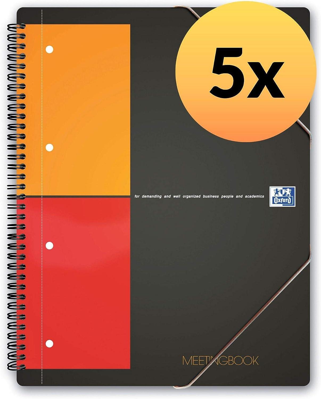 Oxford International 100100362 - Pack de 5 cuadernos espiral microperforados, tapa plástico, A4+: Amazon.es: Oficina y papelería