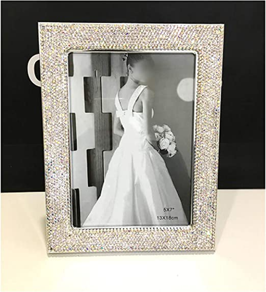 """Stand Modern SILVER Wooden SHIMMER TEXTURED Photo Frame Picture 4x6/"""" Wall"""