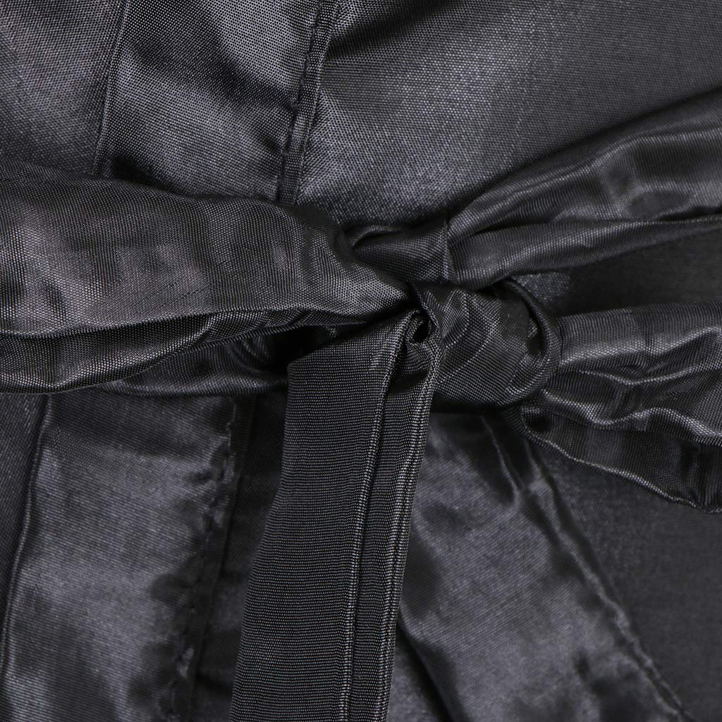 Sharplace Negro Delantal de Teñir de Cabello Capa de Peluquería Vestido de Salón: Amazon.es: Belleza