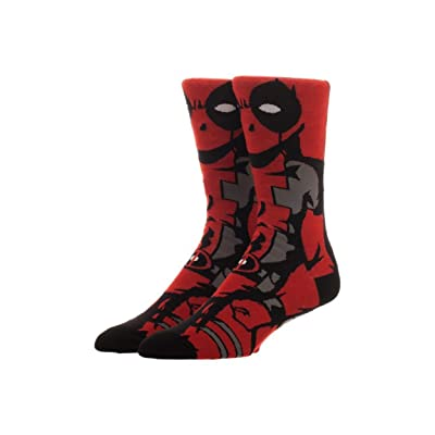 Marvel Comics Deadpool 360 Crew Socks Standard at Men's Clothing store