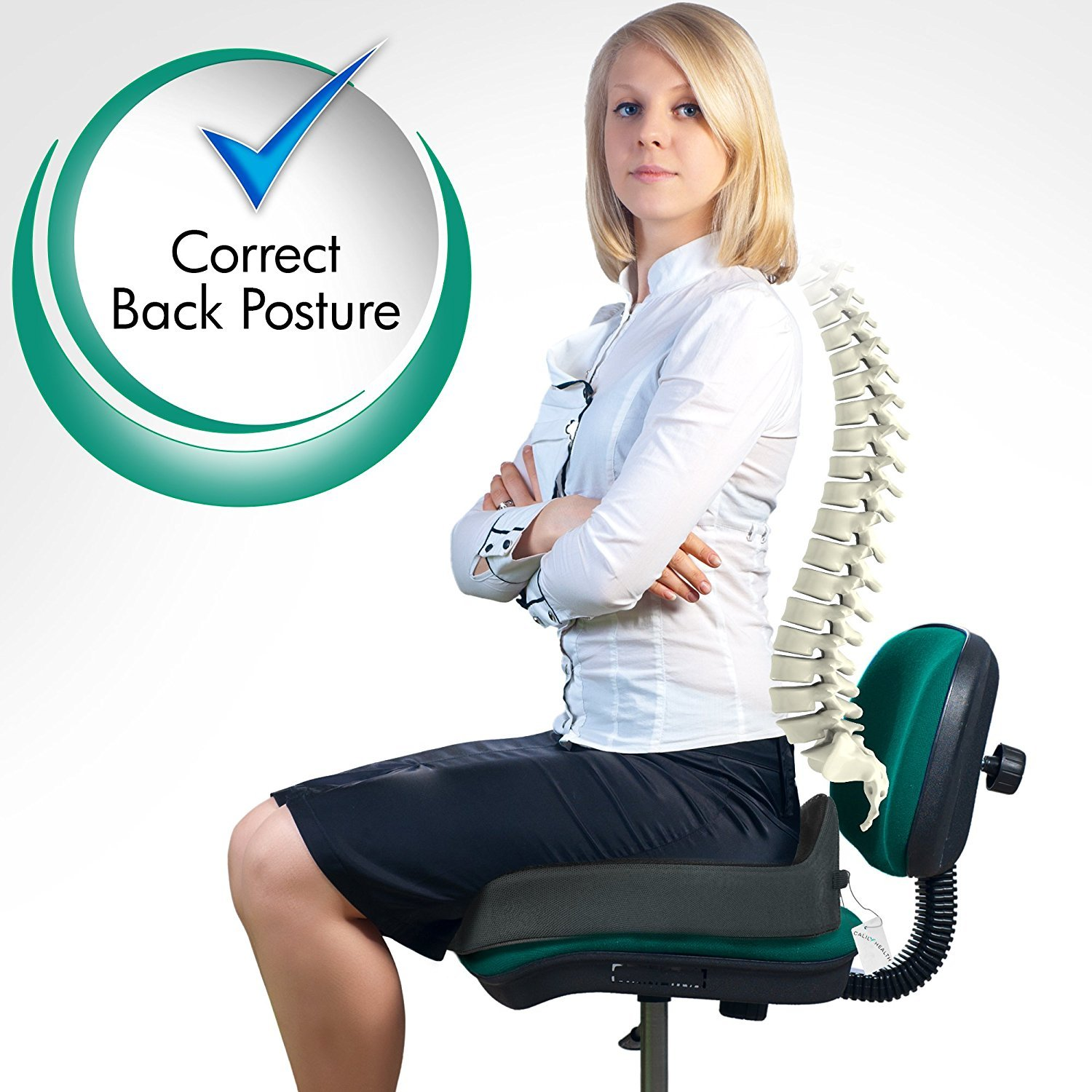 Calily Tailbone Coccyx Cushion Orthopedic Seat Cushion for Office Chair, Car, Trucks, Airplane, etc. – Amazing Relief for Lower Back Pain, Tailbone, Sciatica, Pelvic Pain, Prostate, etc. [UPGRADED]