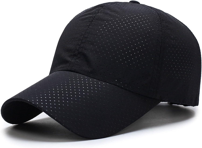 Fast Drying Snapback Cap Summer Men Women Hat Baseball Sports Cap Casual Fashion Basic Newsboy Cap Black