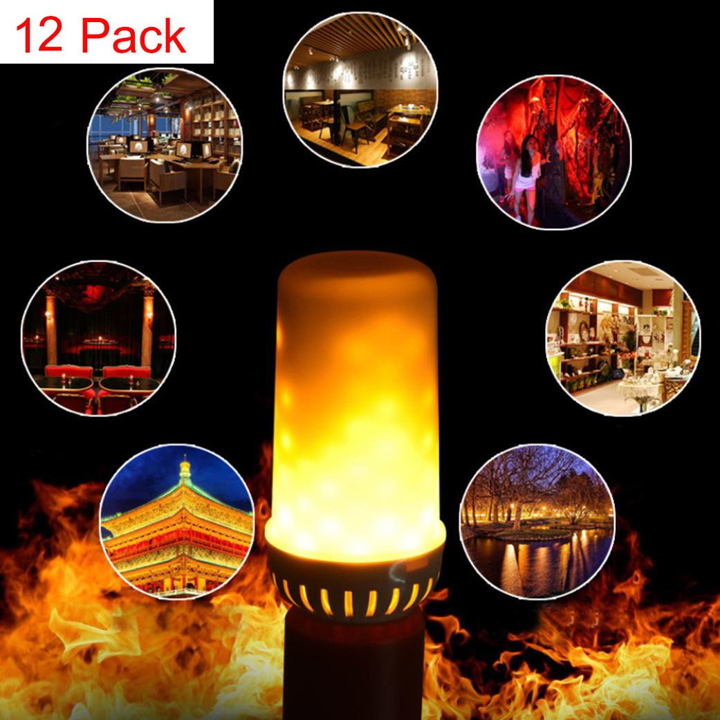 Alonea LED Flame Fire Light Effect Simulated Nature Corn Bulbs E27 Decoration Lamp (12 Pack) by Alonea
