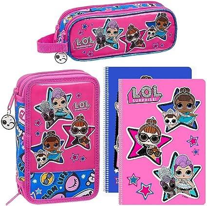 LOL Surprise L.O.L. - Estuche para lápices, color rosa y azul: Amazon.es: Oficina y papelería