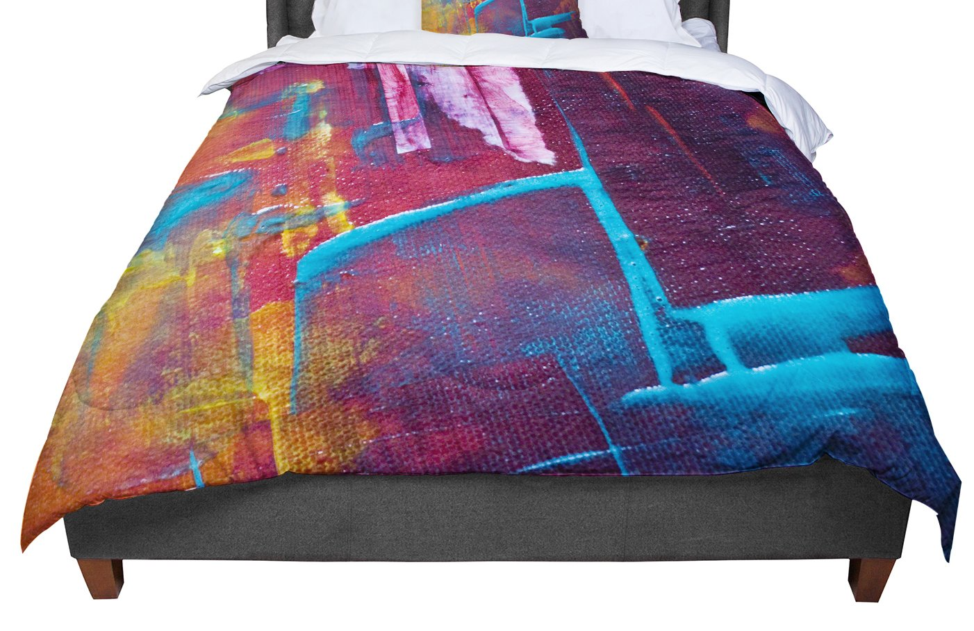 Cal King Comforter 104 X 88 KESS InHouse Malia Shields Cityscape Abstracts II Multicolor Painting King