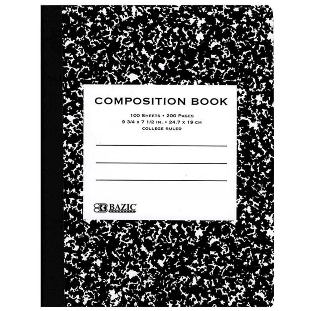 Black Marble Composition Book C/r 100 Ct. (Pack of 6)