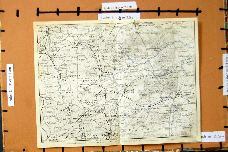 Atlas Worksop /& Mansfield 1906 Antique Map