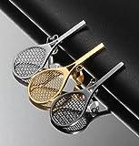 Vnox Jewelry Stainless Steel Tennis Racket Shape