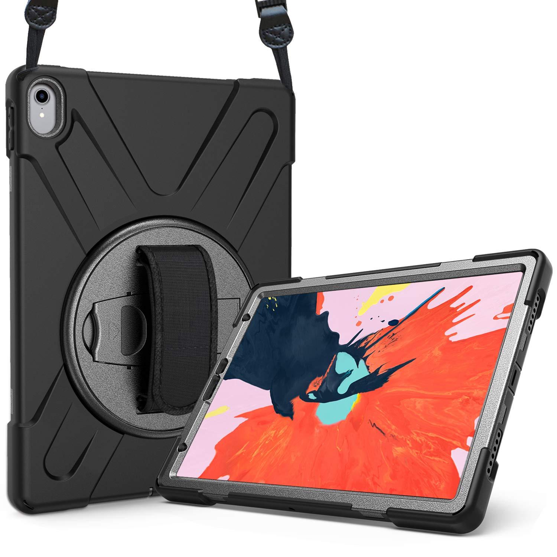 名作 ProCase iPad Pro 12.9 ケース 12.9 2018 360度回転可 キックスタンド カバー Apple 発売 ハンド ストラップ ショルダーベルト付き 調節可 耐久性 耐衝撃 3 in 1 保護ケース Apple iPad Pro 12.9 インチ 2018 発売 –ブラック iPad Pro 12.9\ ブラック B07QNQCKVK, 靴スニーカーのシューメイト花幸:234735fc --- a0267596.xsph.ru