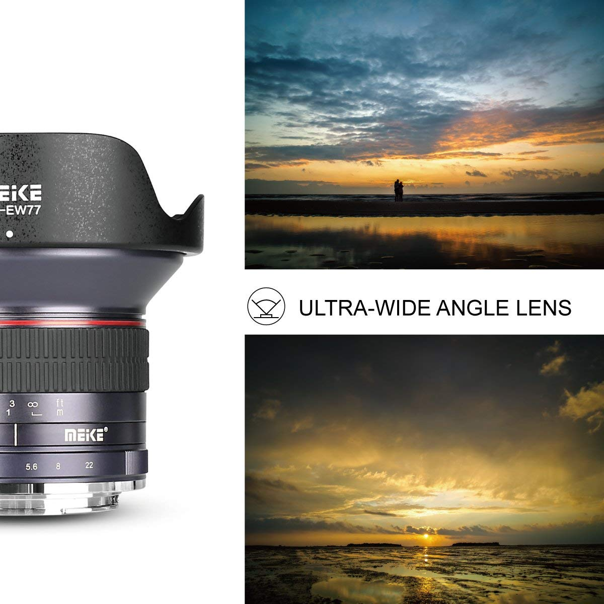 Meike 12mm f//2.8 Wide Angle Manual Focus Lens for Canon EF-M Mount Mirrorless Camera with APS-C