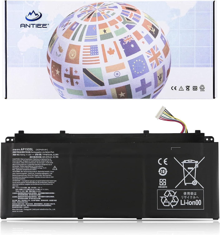 ANTIEE AP15O5L Battery for Acer Aspire S13 S5-371 Chromebook R13 CB5-312T Swift 1 SF114-32 Swift 5 SF514-51 SF515-51T Predator Triton 700 PT715-51 Spin 5 SP513-52N SP513-52NP AP1505L 3ICP4/91/91