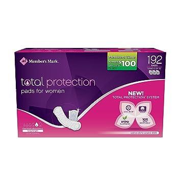 Members Mark Total Protection Maximum Long Pads (192 ...