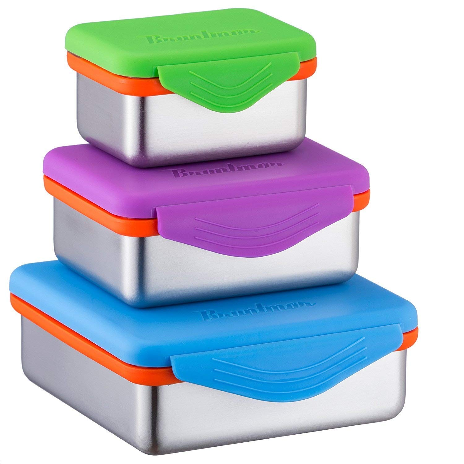 Stainless Steel Food Containers with Snapping Seal Leak-proof Lids
