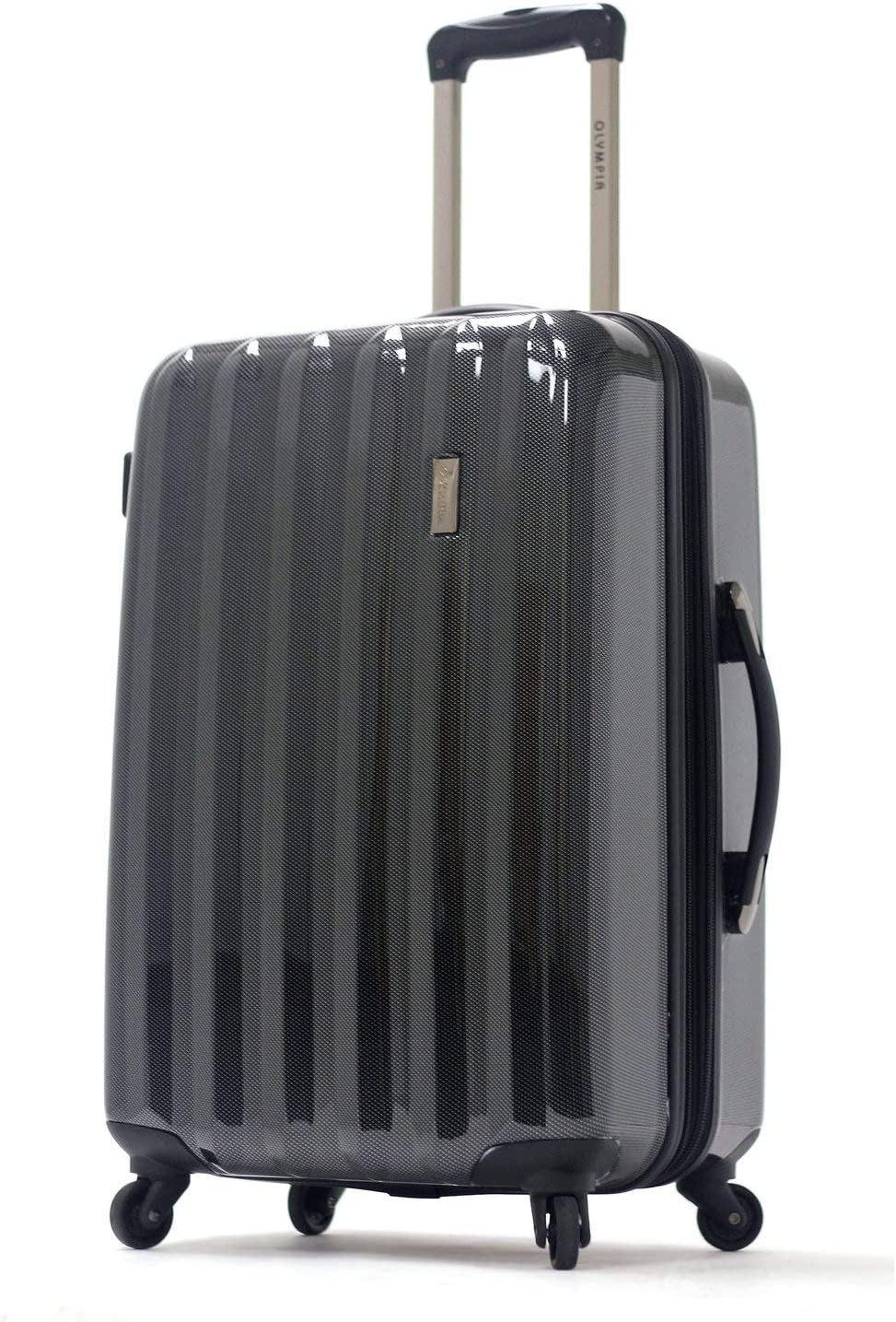 Olympia Titan 25 Mid-Size Expandable Hardcase Spinner Suitcase in Black