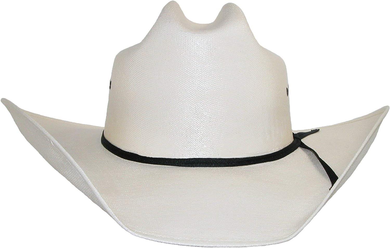 CTM Mens White Canvas Cowboy Western Hat