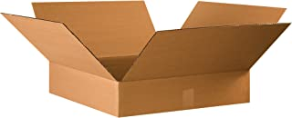 """product image for Partners Brand P22224 Flat Corrugated Boxes, 22""""L x 22""""W x 4""""H, Kraft (Pack of 10)"""