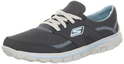 b83f243869f25c Skechers Women s Trainers Grey Grigio (CCBL)  Amazon.co.uk  Shoes   Bags