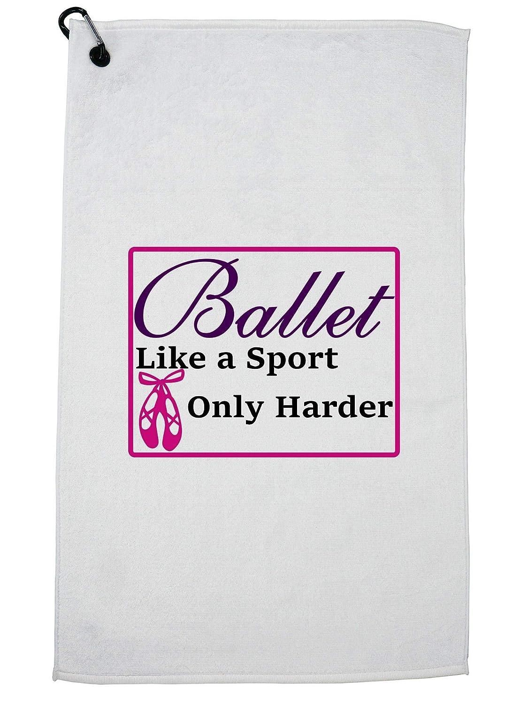 Hollywood スレッドバレエ - スポーツのように硬い - バレエ ラブ ゴルフ タオル カラビナクリップ   B07GBJGM27