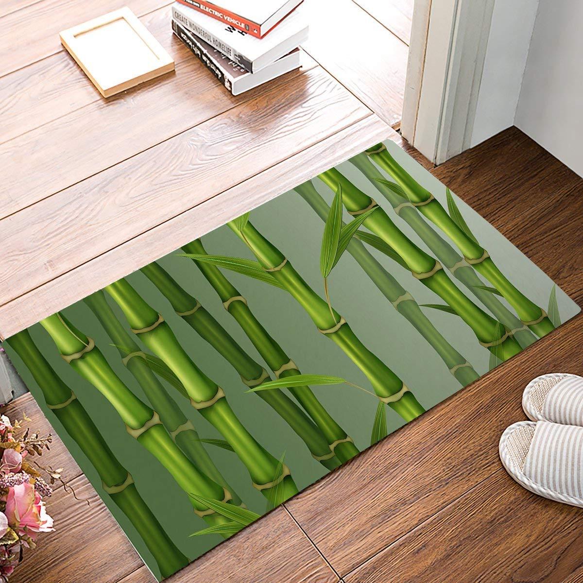 roylery Door Mats Rug,Floor Mats Front Doormats Non-Slip Bedroom Carpet Home Kitchen Rug Bamboo Spa(15.7x23.6 inch)
